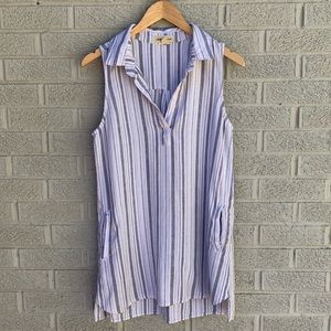 Anthropologie Cloth & Stone Striped Tunic Dress
